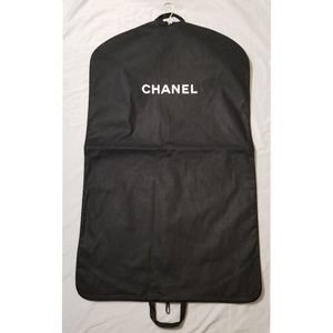 Authentic CHANEL garment travel bag velvet hanger